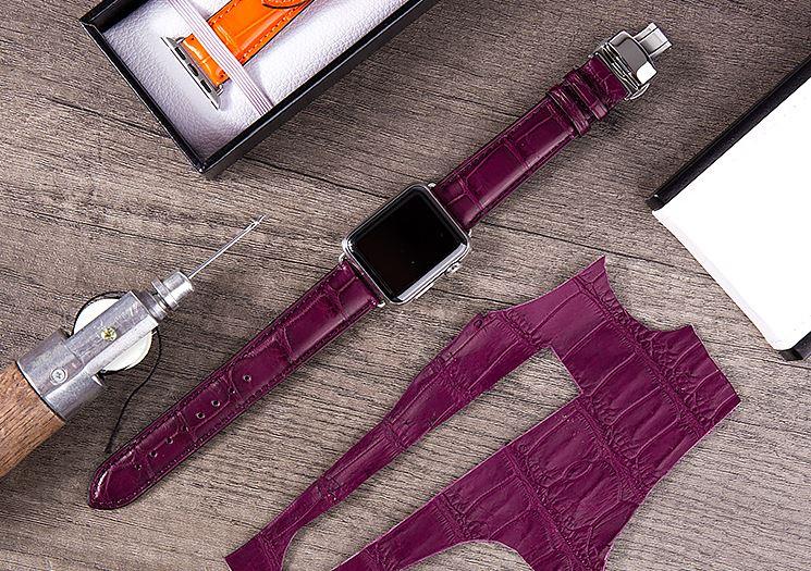 Luxury Apple Watch Bands-Purple