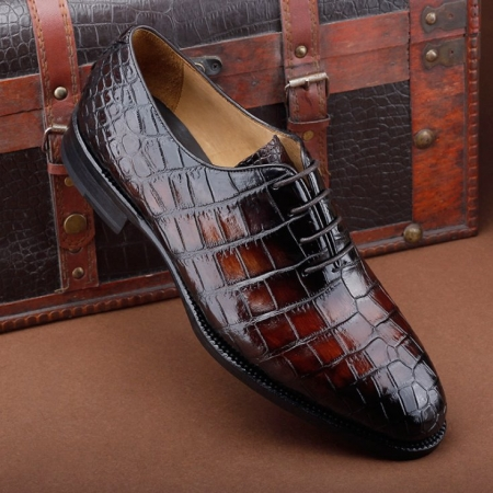 Luxury Genuine Alligator Leather Lace-up Business Formal Shoes Wedding Shoes