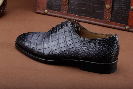 Luxury Genuine Alligator Leather Lace-up Business Formal Shoes Wedding Shoes-Gary-Side