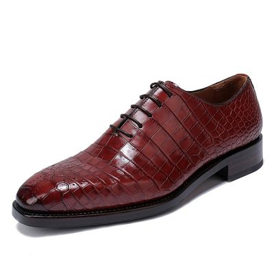 Mens Formal Alligator Oxford Alligator Leather Dress Shoes