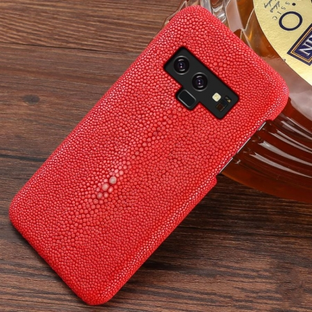 Stingray Leather Galaxy Note 9 Case-Red