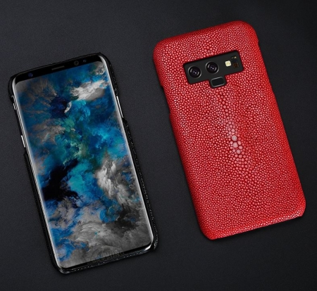Stingray Leather Skin Galaxy Note 9 Case-Red-Display