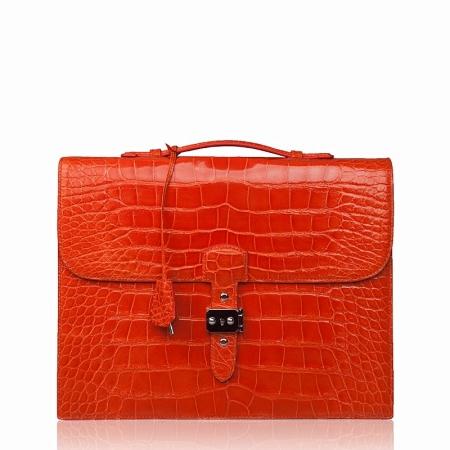 Stylish Alligator Leather Briefcase Handbag for Women