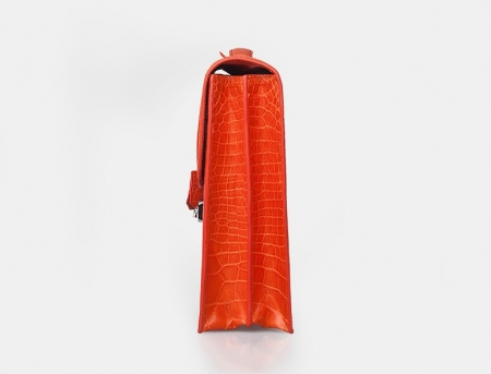 Stylish Alligator Leather Briefcase Handbag for Women-Side