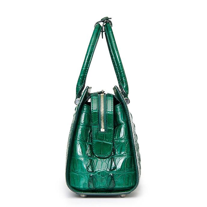 Womens Crocodile Leather Handbags Shoulder Bags Top Handle Tote Satchel For Las Side