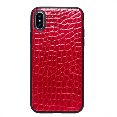 iPhone Xs Max, Xs, X Crocodile Belly Skin TPU Edges Case
