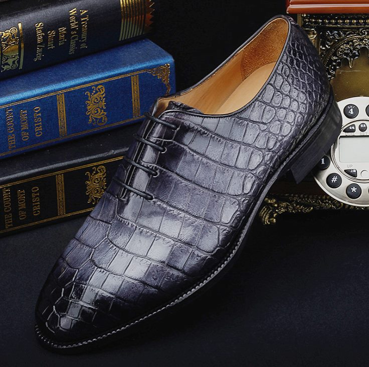 vintage crocodile leather shoes BRUCEGAO