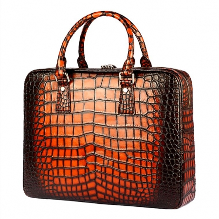 Alligator Business Bag Designer Alligator Briefcase for Men-Side-1
