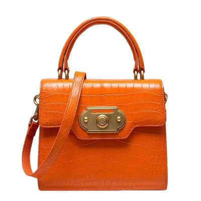 Alligator Handbag Ladies Alligator Shoulder Purse Bag-Orange