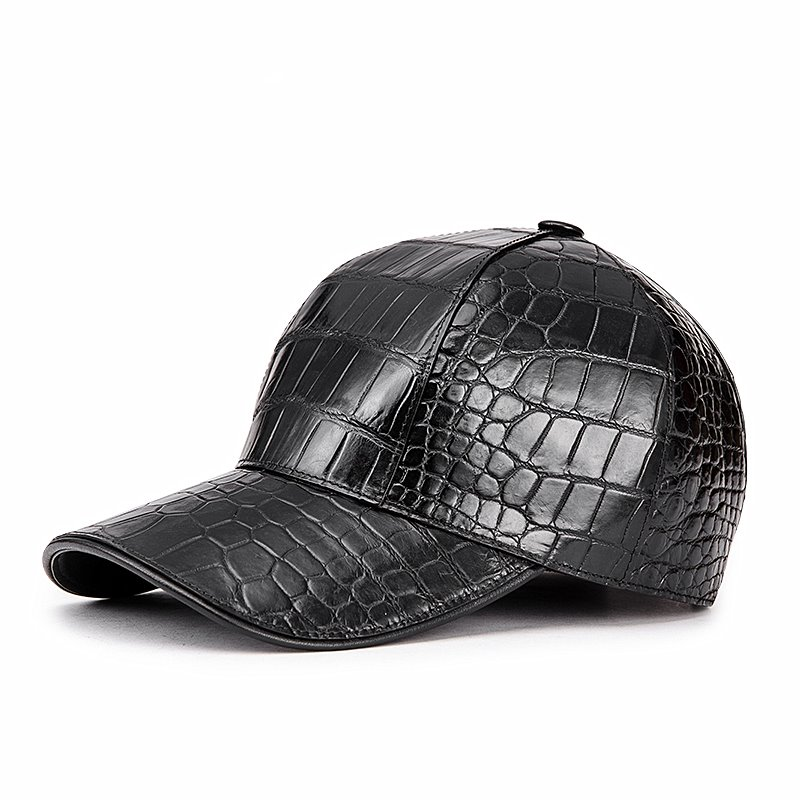 Alligator Skin Baseball Cap for Men
