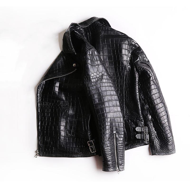 BRUCEGAO's custom made crocodile leather jacket