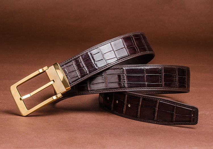 BURCEGAO's Handmade crocodile belt