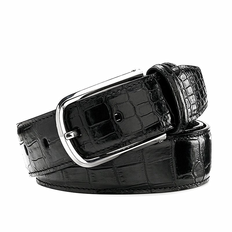 Crocodile leather belts from BRUCEGAO