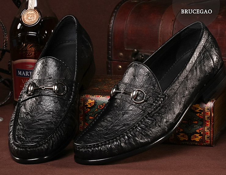 Exotic Leather Shoes-Ostrich Shoes