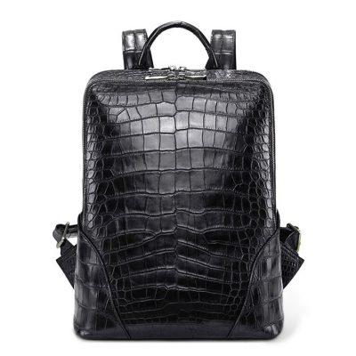 Genuine Alligator Leather Backpack Business Travel Daypack for Men