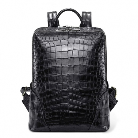 Genuine Alligator Leather Backpack Business Travel Daypack for Men