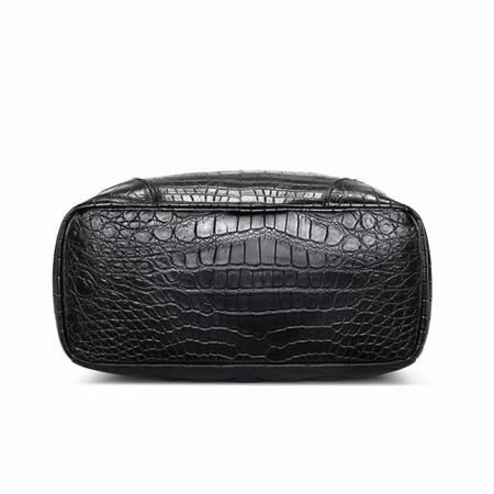 Genuine Alligator Leather Backpack Business Travel Daypack for Men-Bottom
