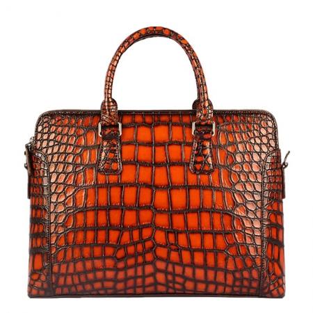 Hand-Painted Alligator Briefcase Messenger Bag Laptop Bag