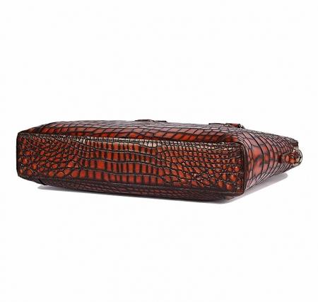 Hand-Painted Alligator Briefcase Messenger Bag Laptop Bag-Bottom