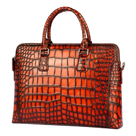 Hand-Painted Alligator Briefcase Messenger Bag Laptop Bag-Micro-Side