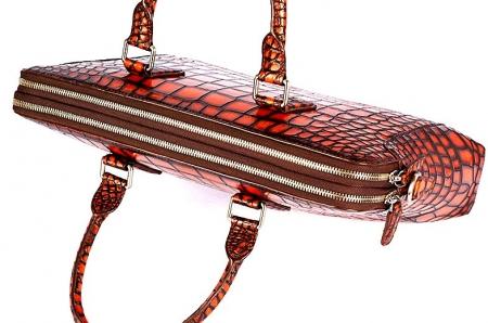 Hand-Painted Alligator Briefcase Messenger Bag Laptop Bag-Top