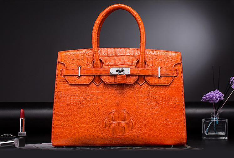 Luxury birthday gifts for her - BURCEGAO's crocodile handbag