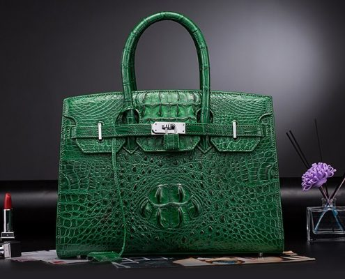 Luxury birthday gifts for her-crocodile handbag