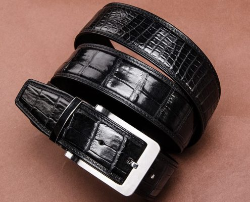 Luxury birthday gifts for him - BURCEGAO's crocodile belt