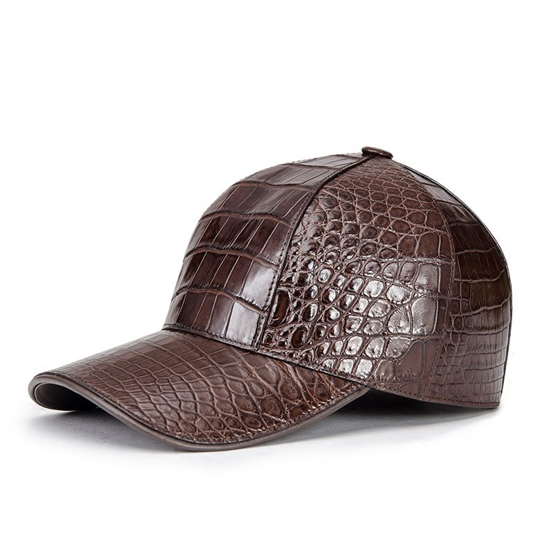 The Best Alligator Skin Baseball Cap-Brown