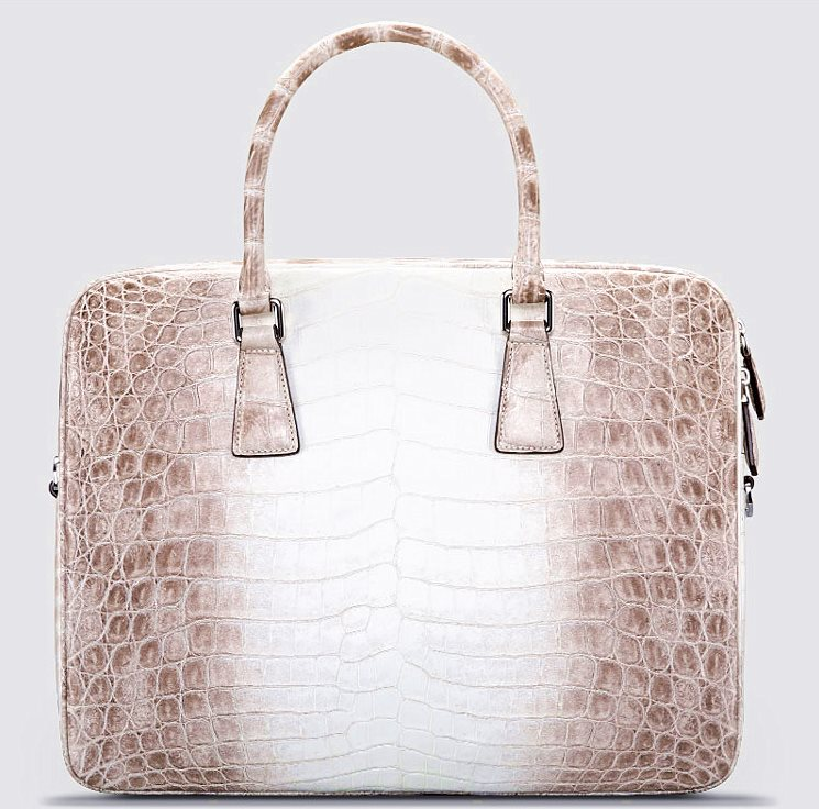 alligator leather business bag for men