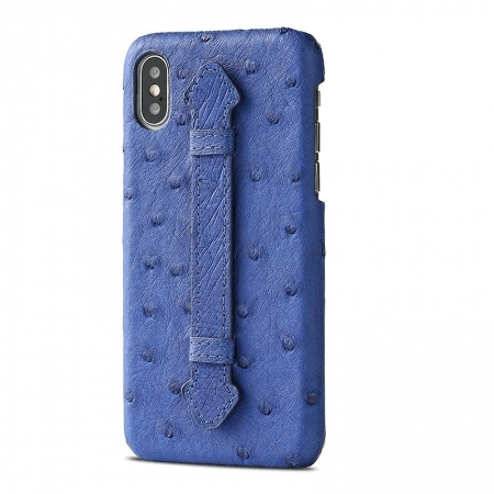 iPhone XS Max, XS Ostrich Skin Case, Ostrich Skin Cases for iPhone XS Max, XS-Blue