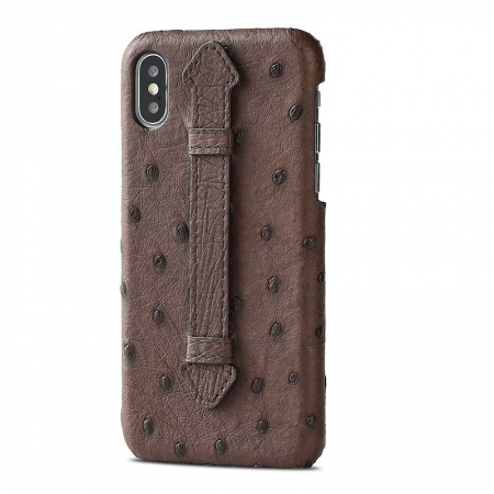 iPhone XS Max, XS Ostrich Skin Case, Ostrich Skin Cases for iPhone XS Max, XS-Brown