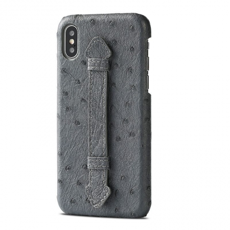 iPhone XS Max, XS Ostrich Skin Case, Ostrich Skin Cases for iPhone XS Max, XS-Gray
