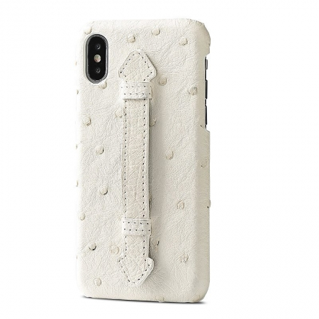 iPhone XS Max, XS Ostrich Skin Case, Ostrich Skin Cases for iPhone XS Max, XS-White