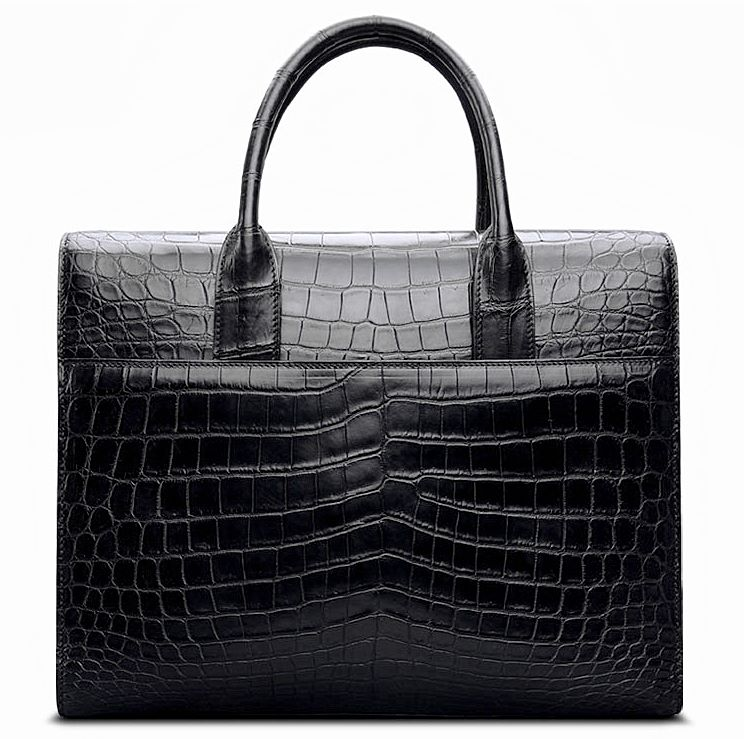 luxury alligator business bag