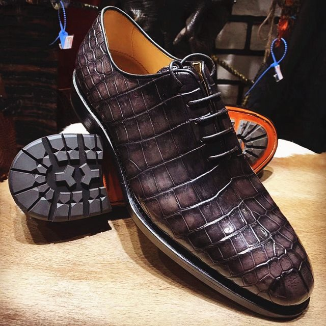 luxury alligator business shoes for men