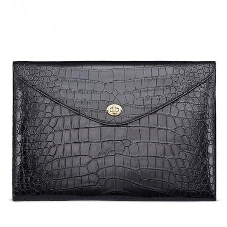 Large Capacity Alligator Leather Business Briefcase Envelope Bag