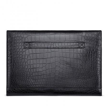 Large Capacity Alligator Leather Business Briefcase Envelope Bag-Back