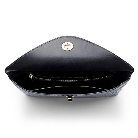 Large Capacity Alligator Leather Business Briefcase Envelope Bag-Inside