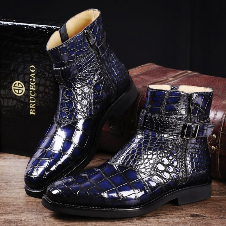 Men's Handcrafted Genuine Alligator Leather Boots
