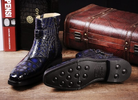 Men's Handcrafted Genuine Alligator Leather Boots-Details