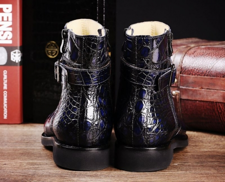Men's Handcrafted Genuine Alligator Leather Boots-Heel
