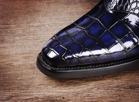 Men's Handcrafted Genuine Alligator Leather Boots-Toe