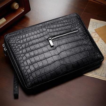 Men's Alligator Leather Business Clutch Wrist Bag-1