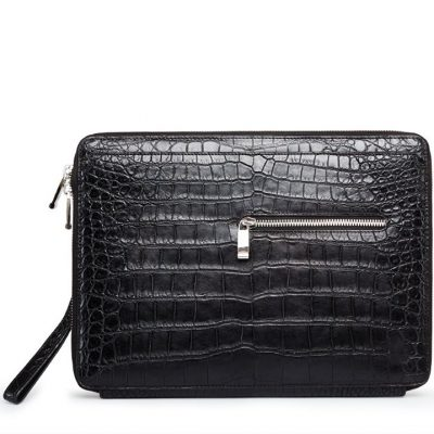 Men's Alligator Leather Business Clutch Wrist Bag
