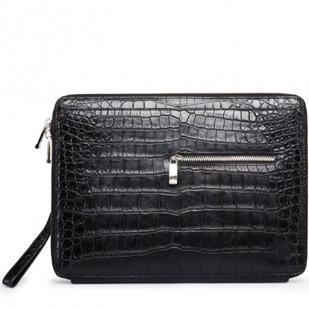 Men's Alligator Leather Business Clutch Wrist Bag