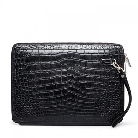 Men's Alligator Leather Business Clutch Wrist Bag-Back