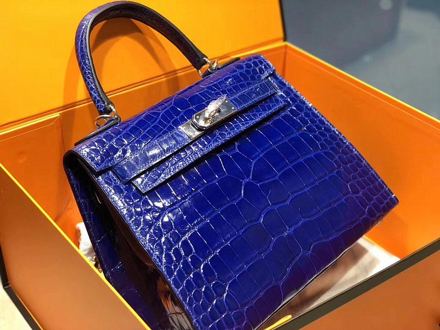 New Arrivals Alligator handbag-Blue