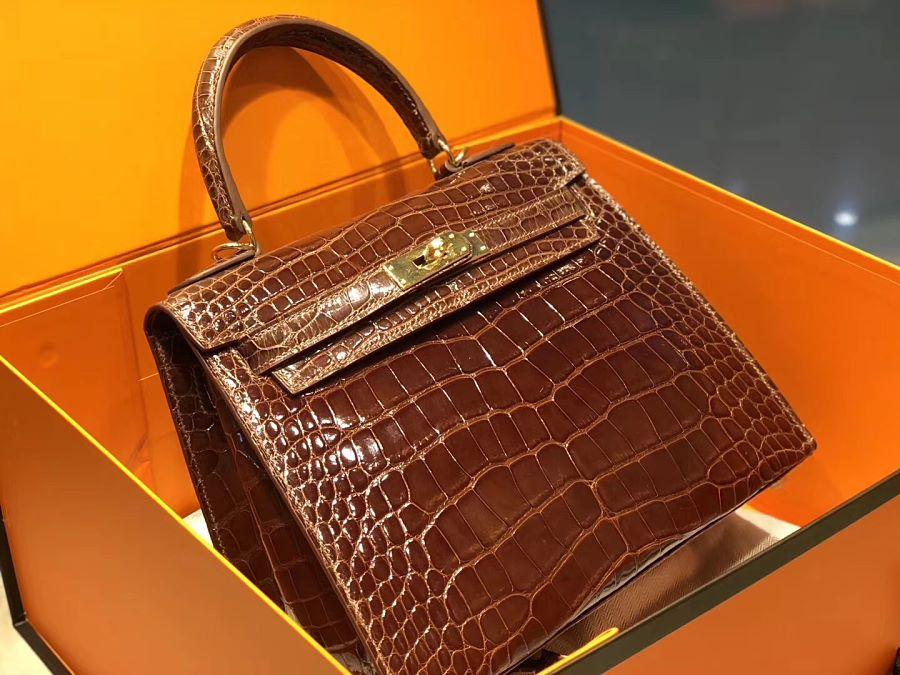 New Arrivals Alligator handbag-Brown