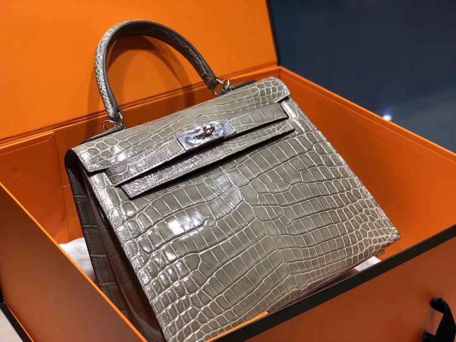 New Arrivals Alligator handbag-Gray